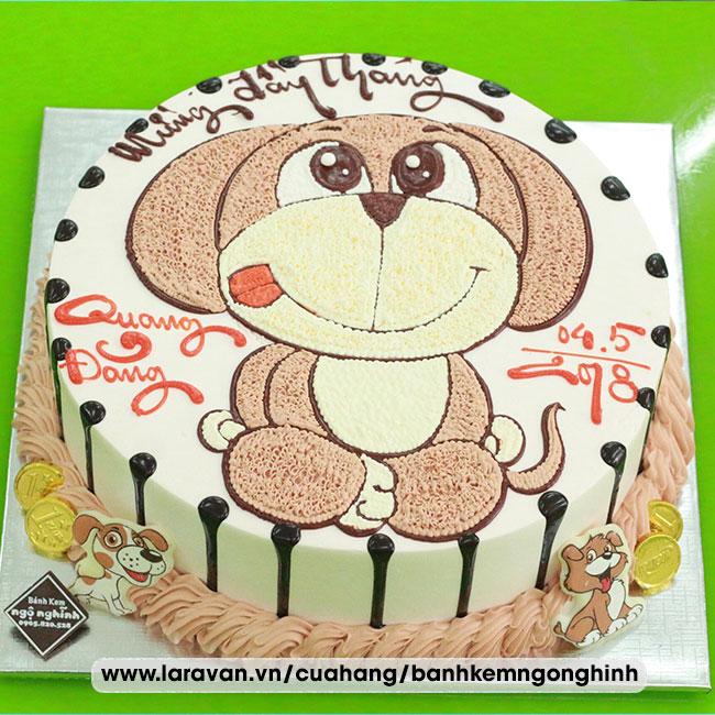 Bánh kem sinh nhật mừng đày tháng