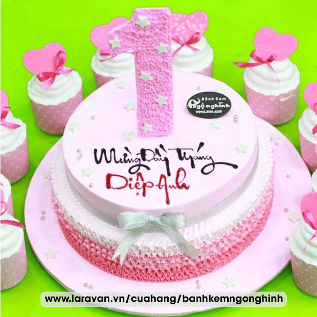 Bánh kem sinh nhật mừng đầy tháng
