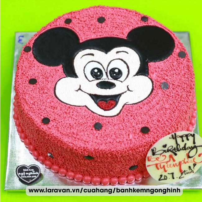 Bánh kem sinh nhật nhân vật hoạt hình chuột mickey