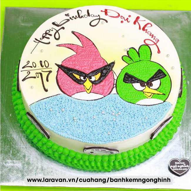 Bánh kem sinh nhật nhân vật hoạt hình angry bird