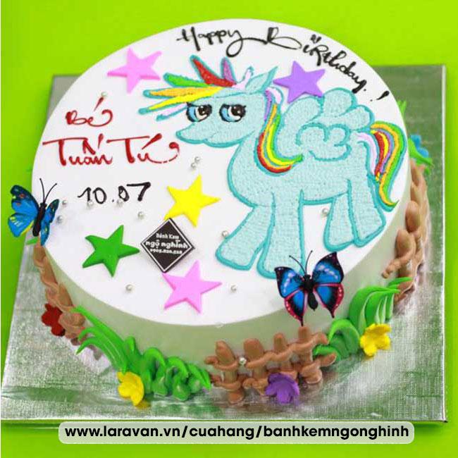 Bánh kem sinh nhật nhân vật hoạt hình ngựa pony