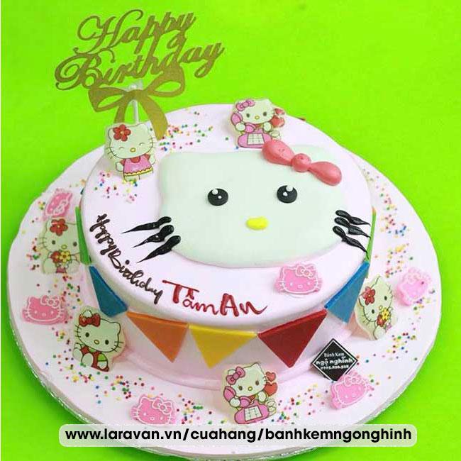 Bánh kem sinh nhật nhân vật hoạt hình hello kitty