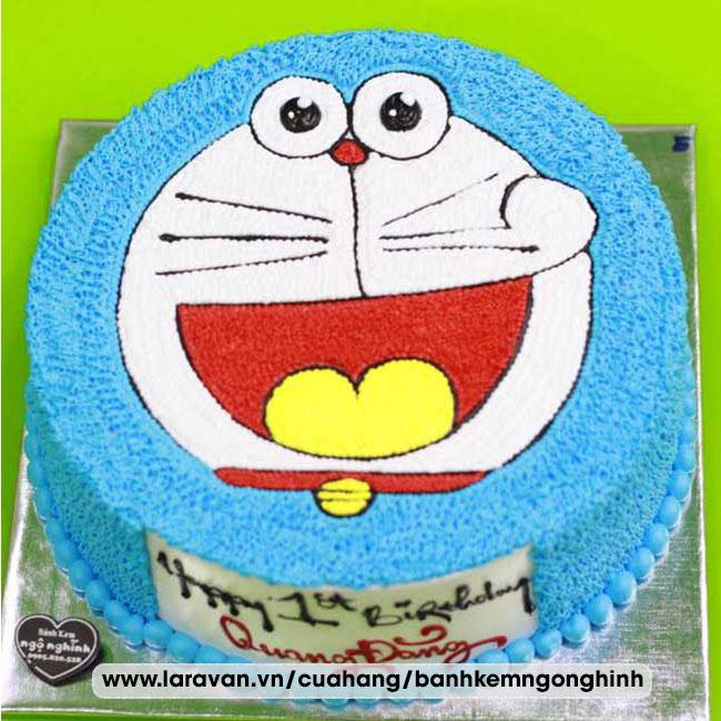 Bánh kem sinh nhật nhân vật hoạt hình doremon