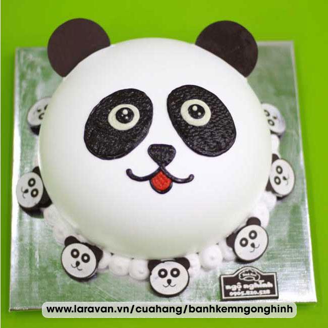 Bánh kem sinh nhật nhân vật hoạt hình gấu trúc