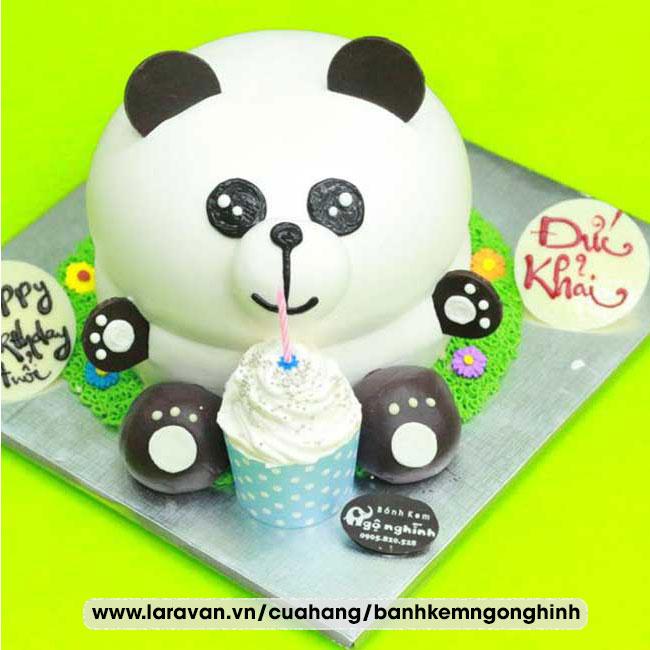 Bánh kem sinh nhật nhân vật hoạt hình gấu nhỏ