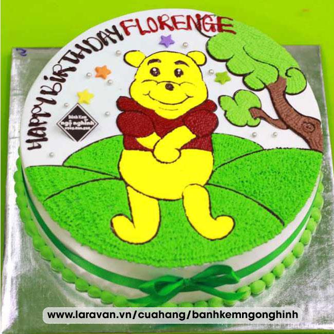 Bánh kem sinh nhật nhân vật hoạt hình gấu pooh