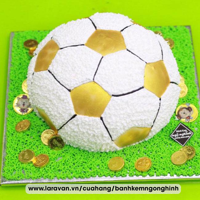 Bánh kem sinh nhật tạo hình 3d trái banh ngộ nghĩnh đáng yêu
