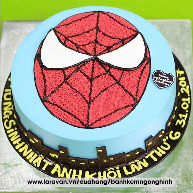 Bánh kem sinh nhật mặt nạ người nhện