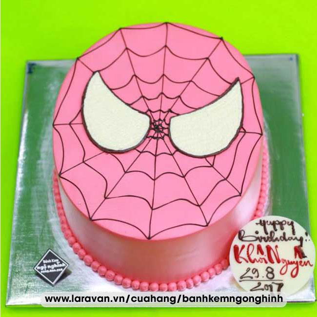 Bánh kem sinh nhật tạo hình mặt người nhện