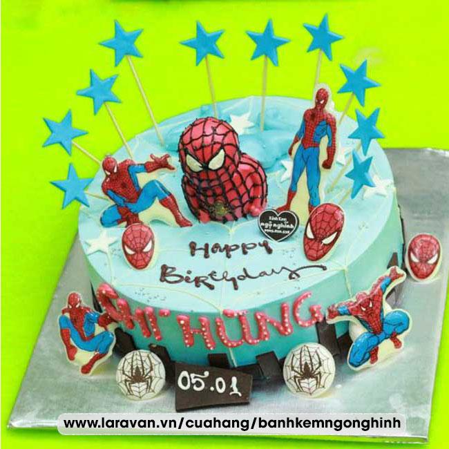 Bánh kem sinh nhật tạo hình người nhện