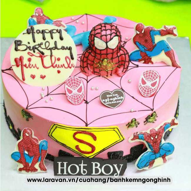 Bánh kem sinh nhật tạo hình siêu nhân người nhện