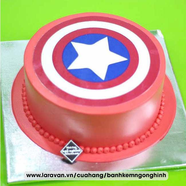 Bánh kem sinh nhật tạo hình 3d logo siêu anh hùng