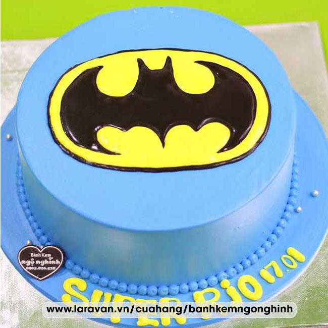 Bánh kem sinh nhật tạo hình 3d logo siêu nhân người nhện