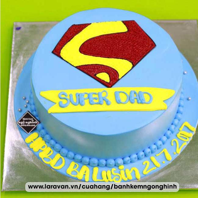 Bánh kem sinh nhật tạo hình 3d logo super man