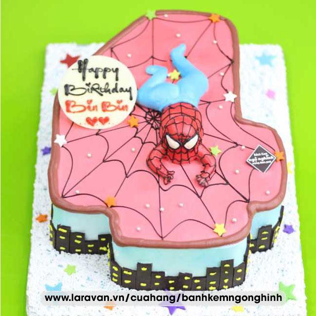Bánh kem sinh nhật người nhện