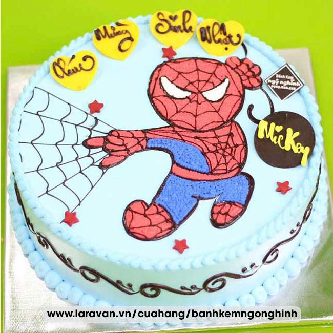 Bánh kem sinh nhật siêu nhân người nhện