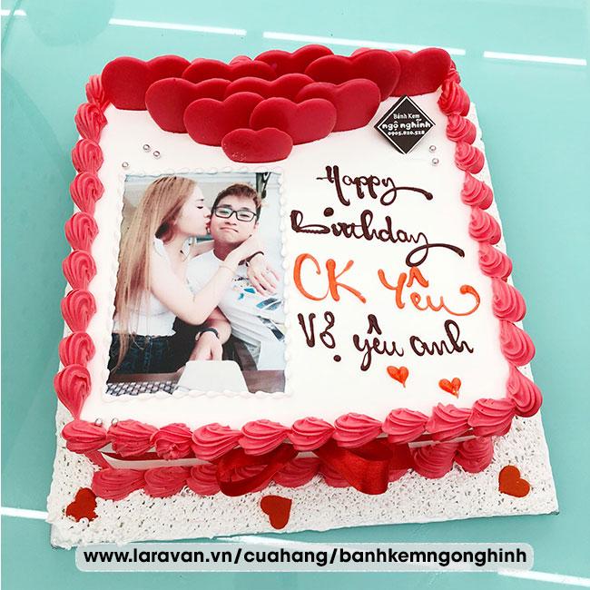 Bánh kem sinh nhật tặng chồng yêu