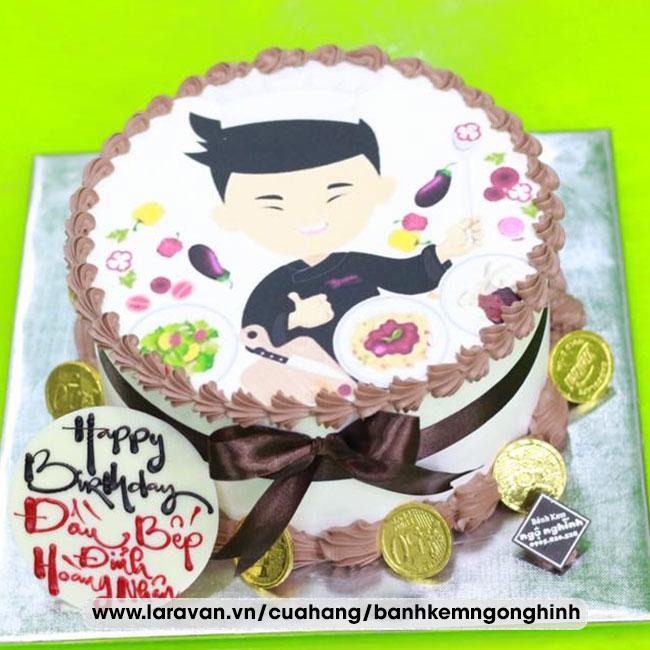 Bánh kem sinh nhật in hình ngộ nghĩnh tặng nam độc lạ