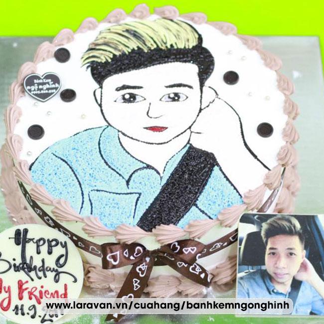 Bánh kem sinh nhật vẽ hình tặng nam đẹp mắt