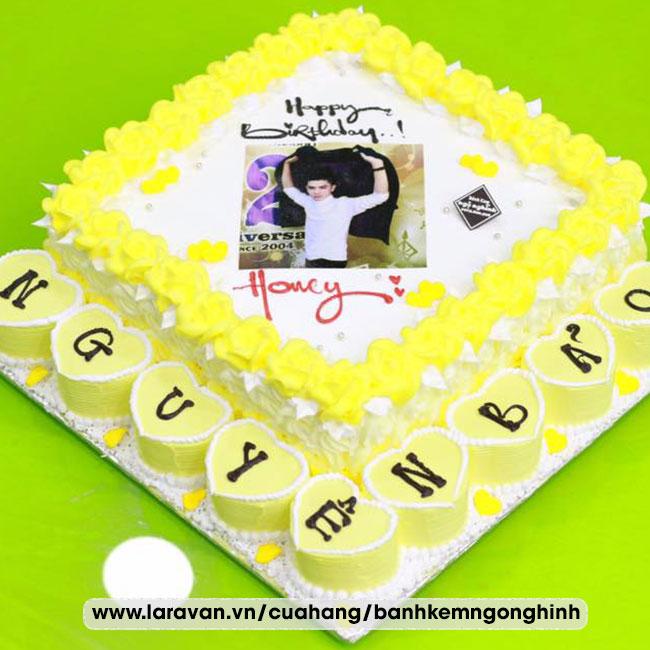 Bánh kem sinh nhật in hình tặng nam dễ thương