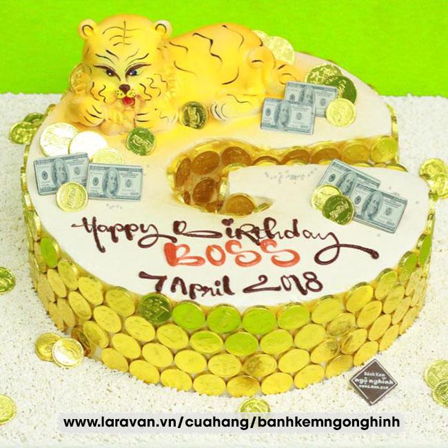 Bánh kem sinh nhật tặng sếp sang trọng