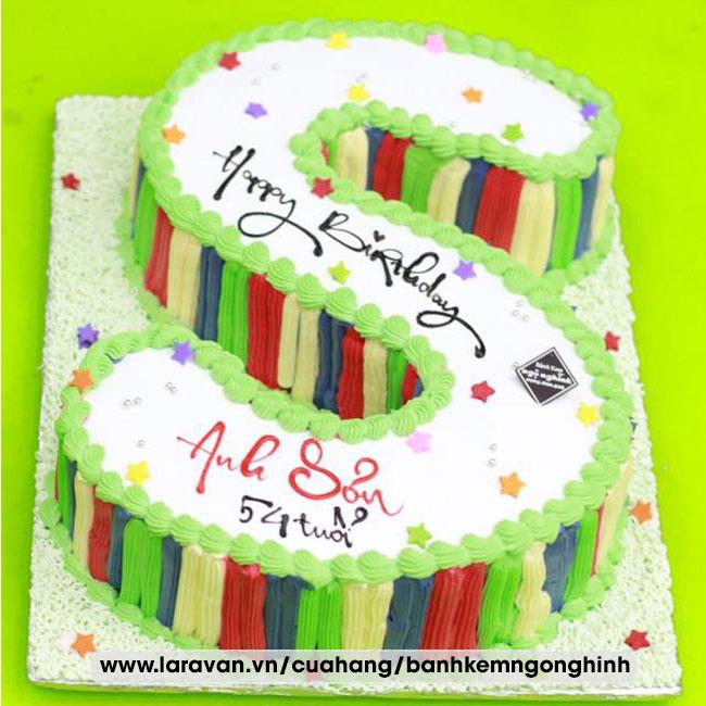 Bánh kem sinh nhật tạo hình 3d chữ S