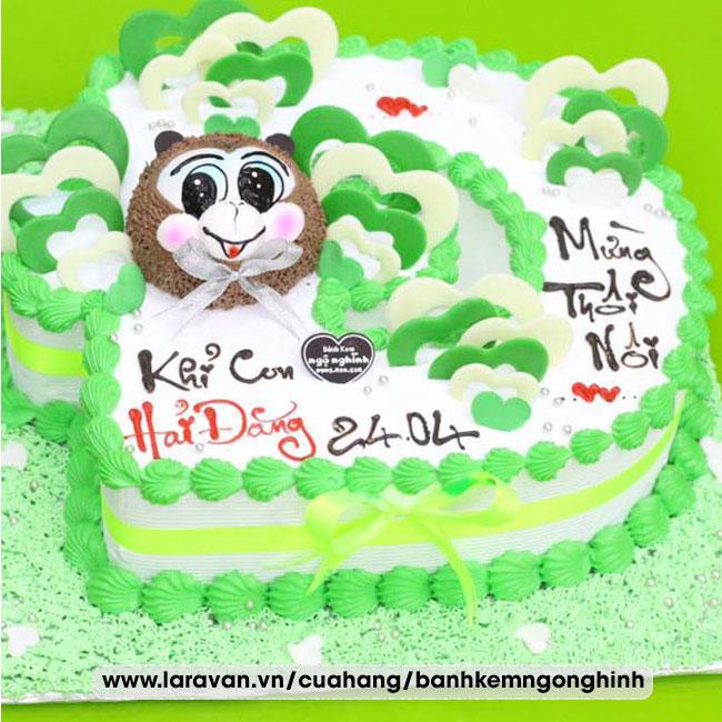 Bánh kem sinh nhật tạo hình 3d chữ Đ