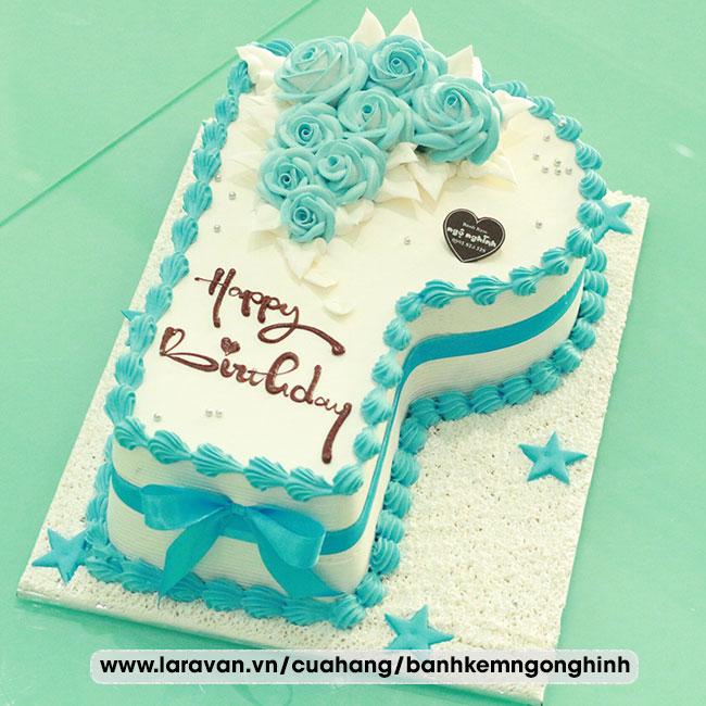 Bánh kem sinh nhật tạo hình 3d chữ P