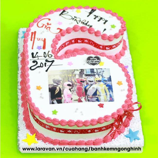 Bánh kem sinh nhật tạo hình 3d số 6