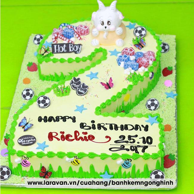 Bánh kem sinh nhật tạo hình 3d số 2