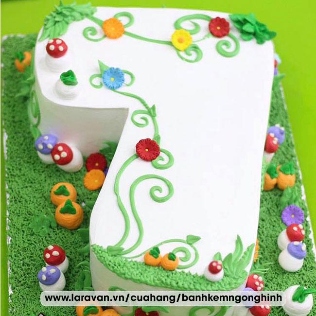 Bánh kem sinh nhật tạo hình 3d số 7