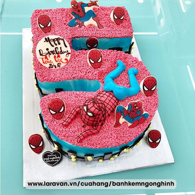 Bánh kem sinh nhật tạo hình 3d số 5