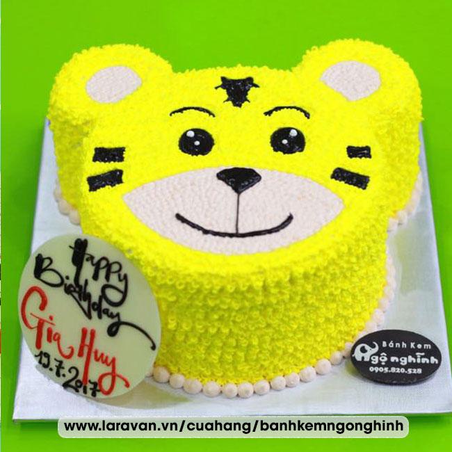Bánh kem sinh nhật tạo hình 3d mặt con hổ
