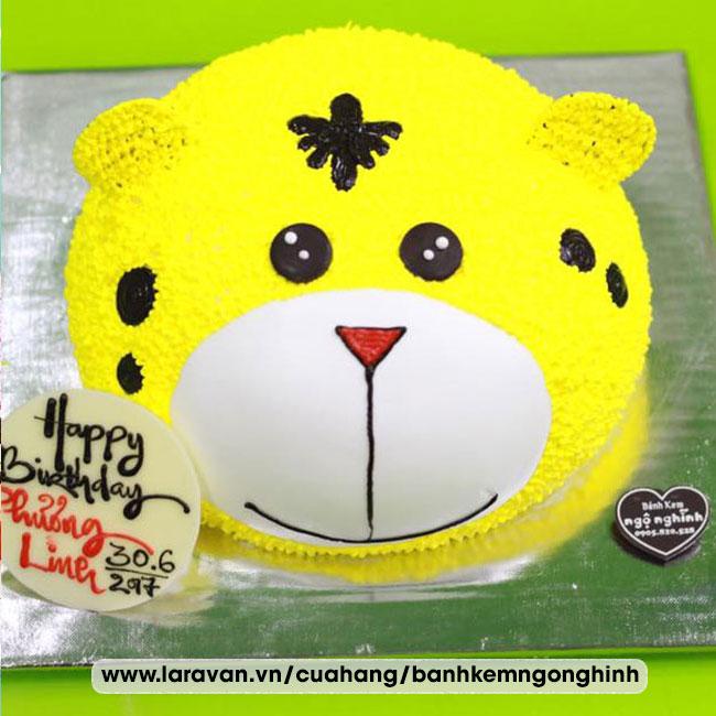 Bánh kem sinh nhật tạo hình 3d con gấu