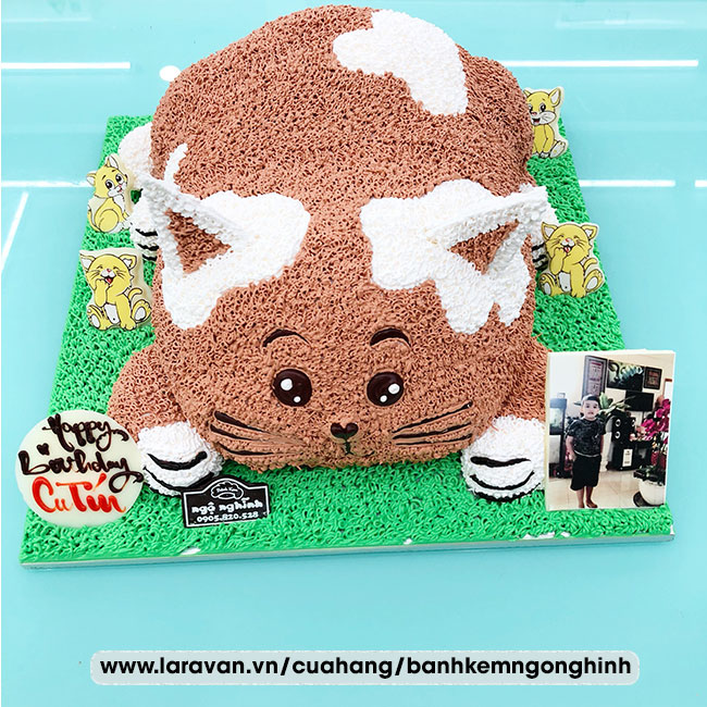 Bánh kem sinh nhật tạo hình 3d con mèo