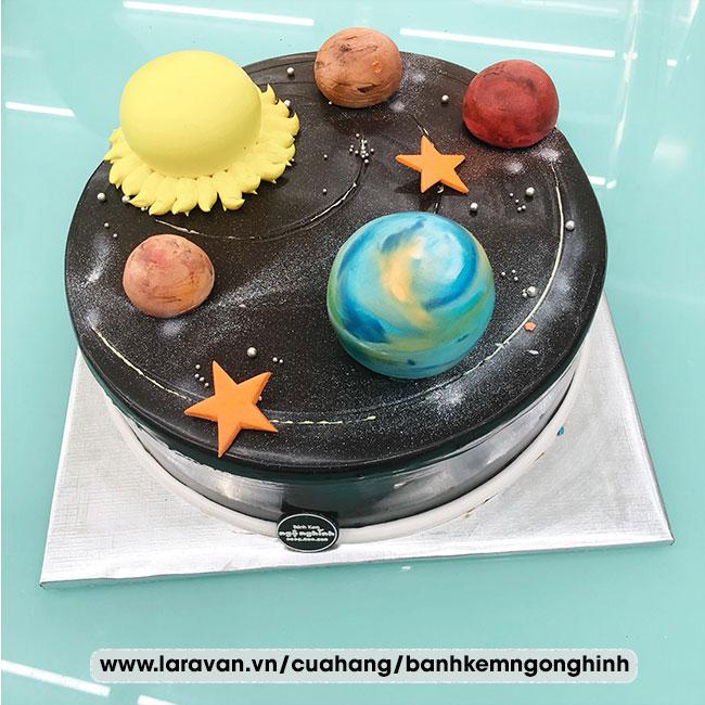Bánh kem sinh nhật tạo hình 3d độc lạ các hành tinh