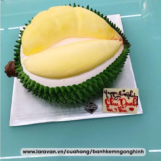Bánh kem sinh nhật tạo hình 3d độc lạ trái sầu riêng