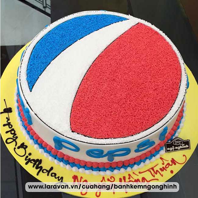 Bánh kem sinh nhật tạo hình 3d độc lạ logo pepsi