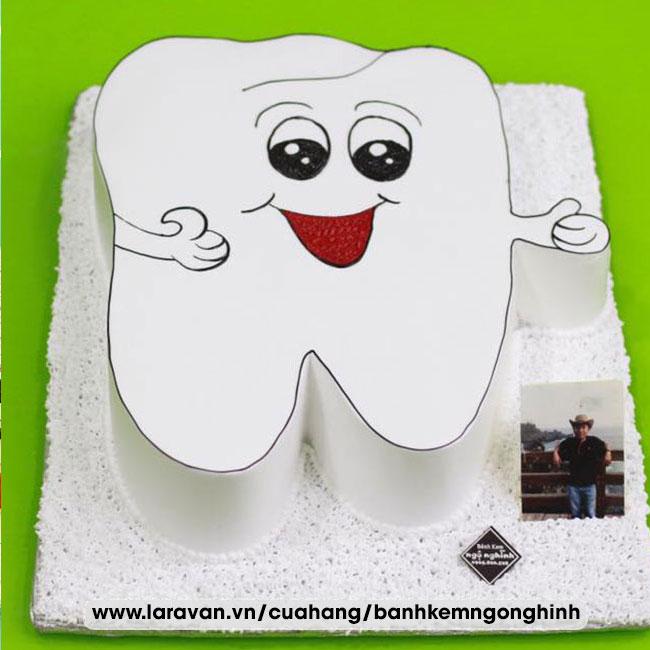 Bánh kem sinh nhật tạo hình 3d độc lạ chiếc răng