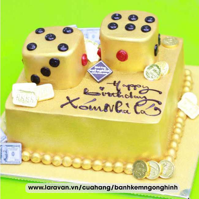 Bánh kem sinh nhật tạo hình 3d độc lạ xí ngầu
