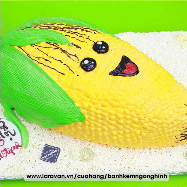 Bánh kem sinh nhật tạo hình 3d độc lạ trái bắp