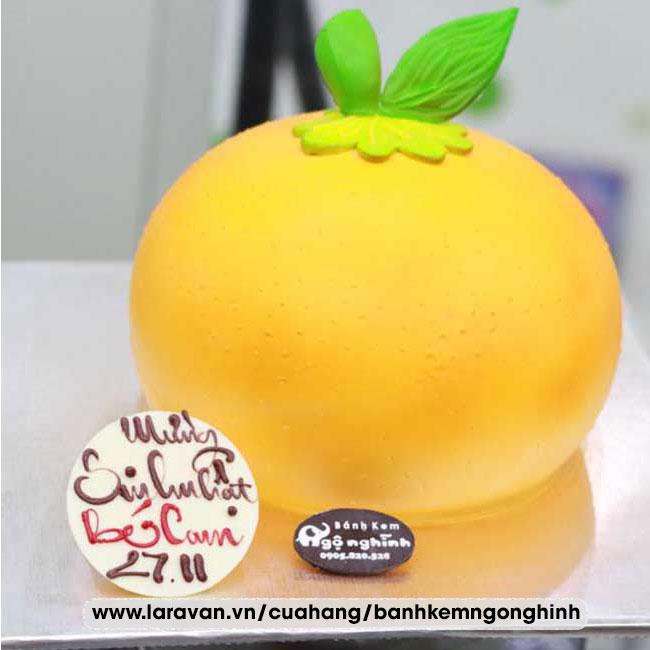 Bánh kem sinh nhật tạo hình 3d độc lạ quả cam