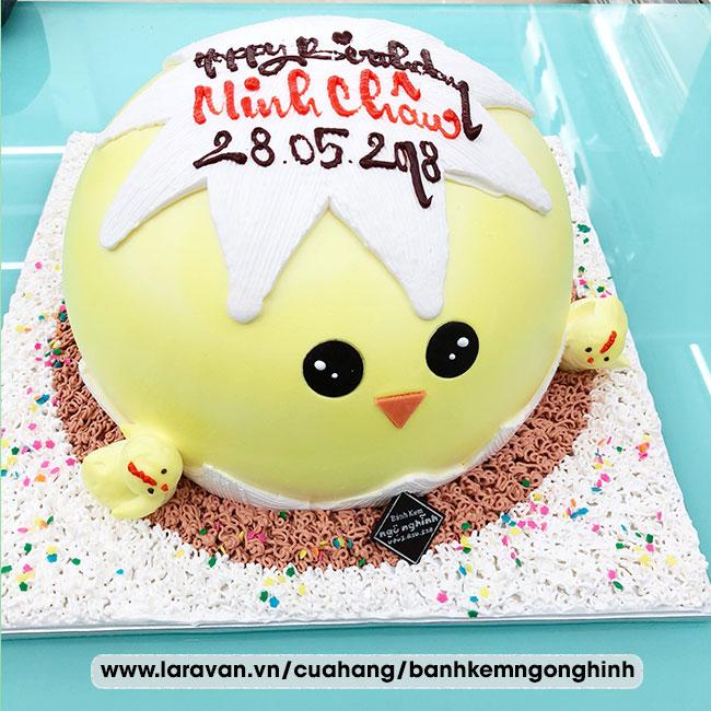 Bánh kem sinh nhật tạo hình 3d độc lạ quả trứng gà nở