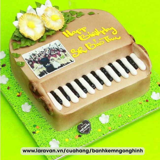 Bánh kem sinh nhật tạo hình 3d độc lạ đàn piano