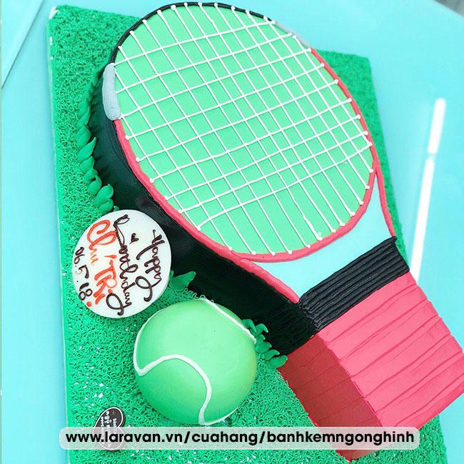 Bánh kem sinh nhật tạo hình 3d độc lạ vợt tennis