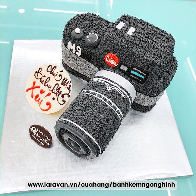 Bánh kem sinh nhật tạo hình 3d độc lạ máy ảnh