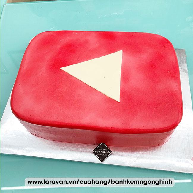 Bánh kem sinh nhật tạo hình 3d độc lạ biểu tượng youtube