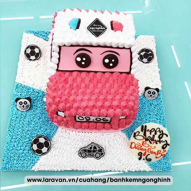 Bánh kem sinh nhật tạo hình 3d xe cảnh sát