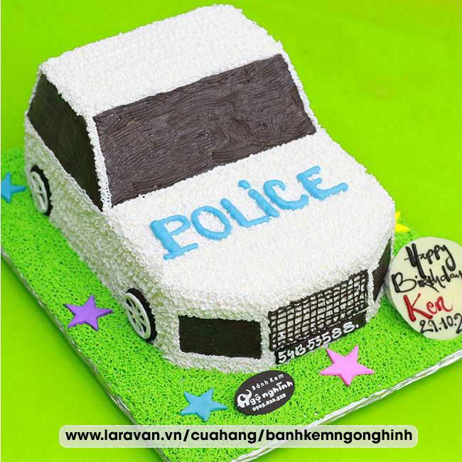 Bánh kem sinh nhật tạo hình xe cảnh sát