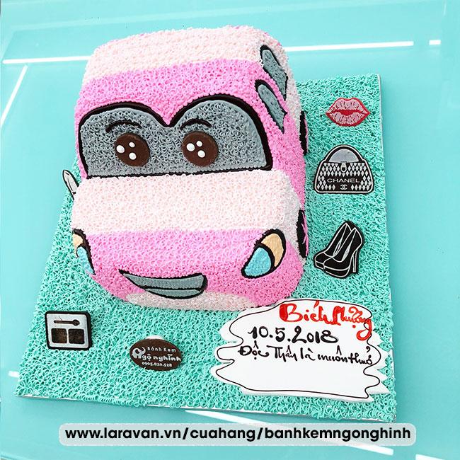 Bánh kem sinh nhật tạo hình xe đua, siêu xe, mc queen